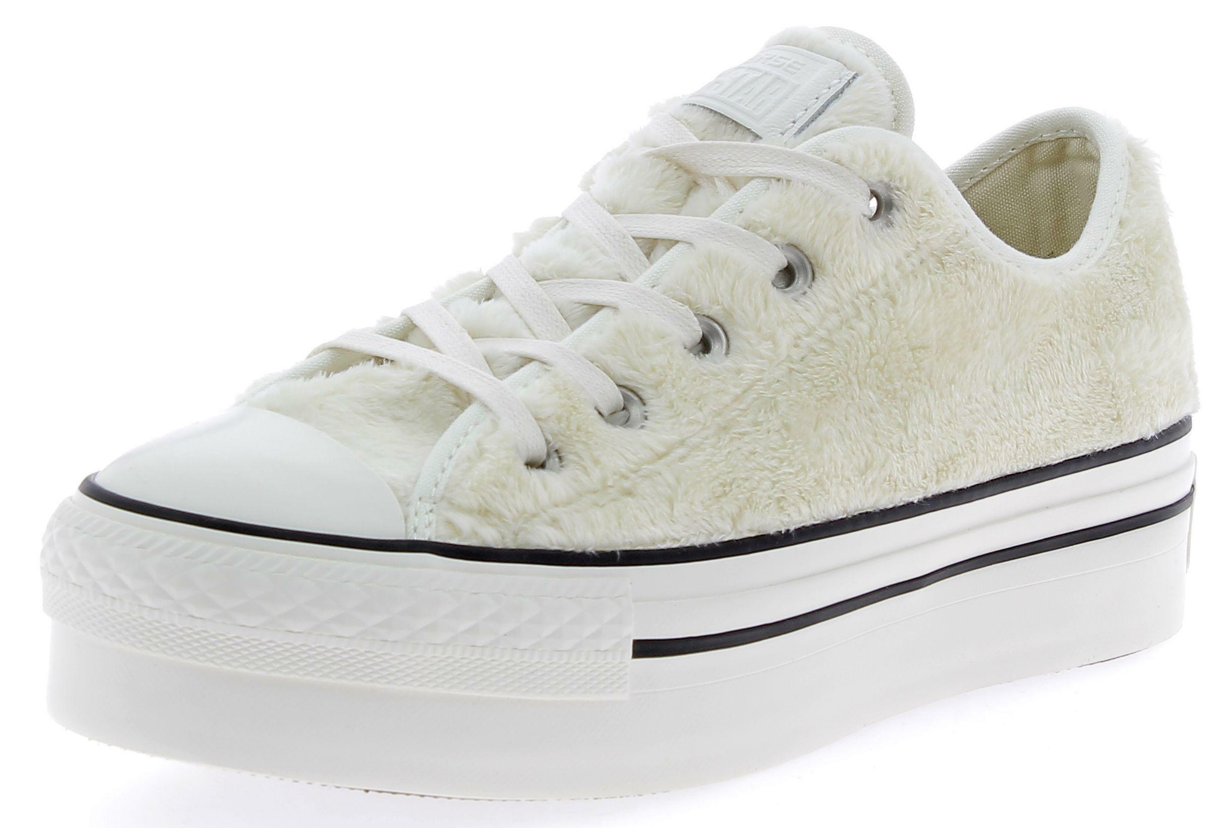 converse converse ctas platform ox scarpe sportive donna egret bianche