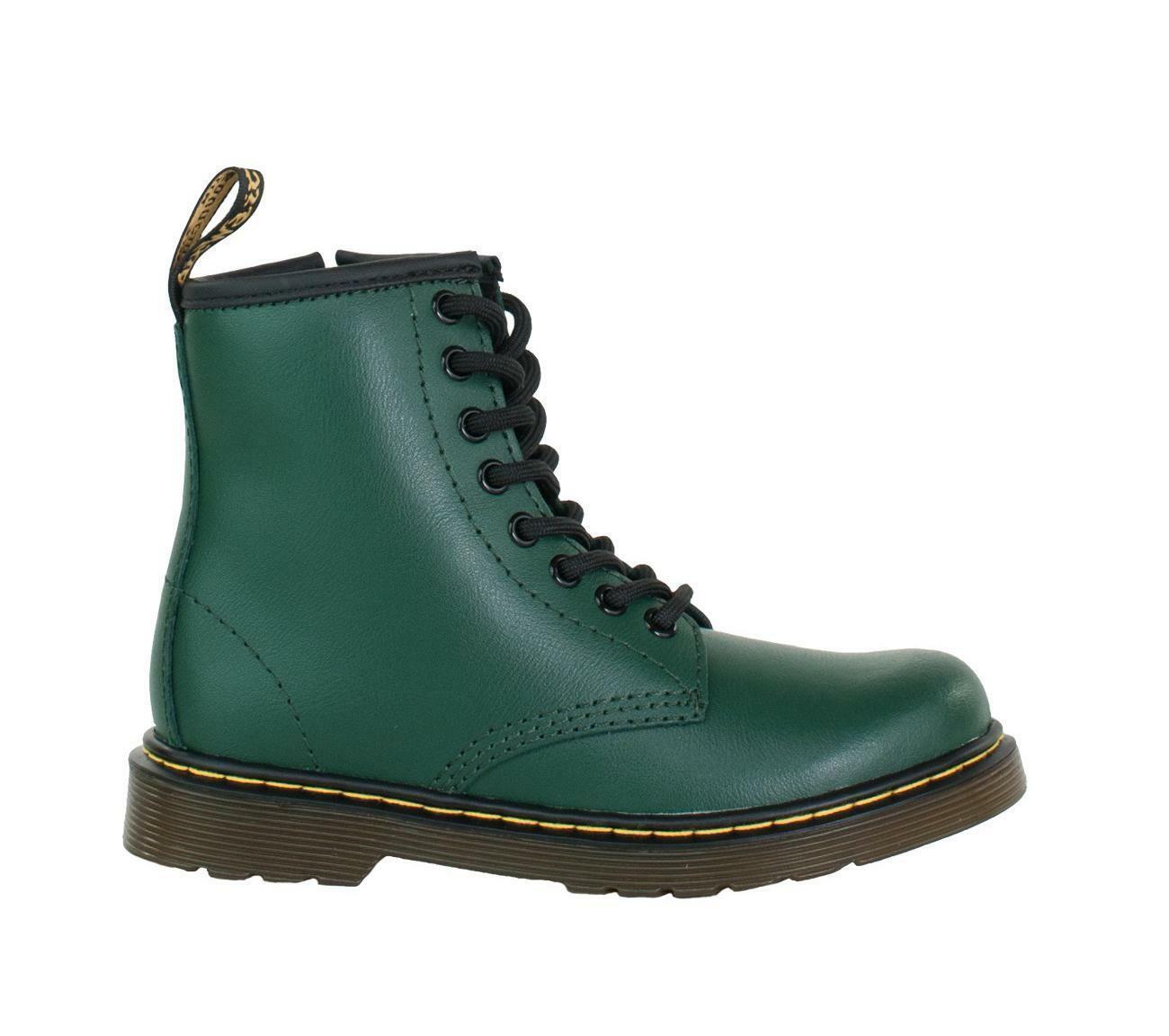 Factory Outlets 100% echt beste Angebote für Details about DR. MARTENS Green Delaney Boy's Shoes