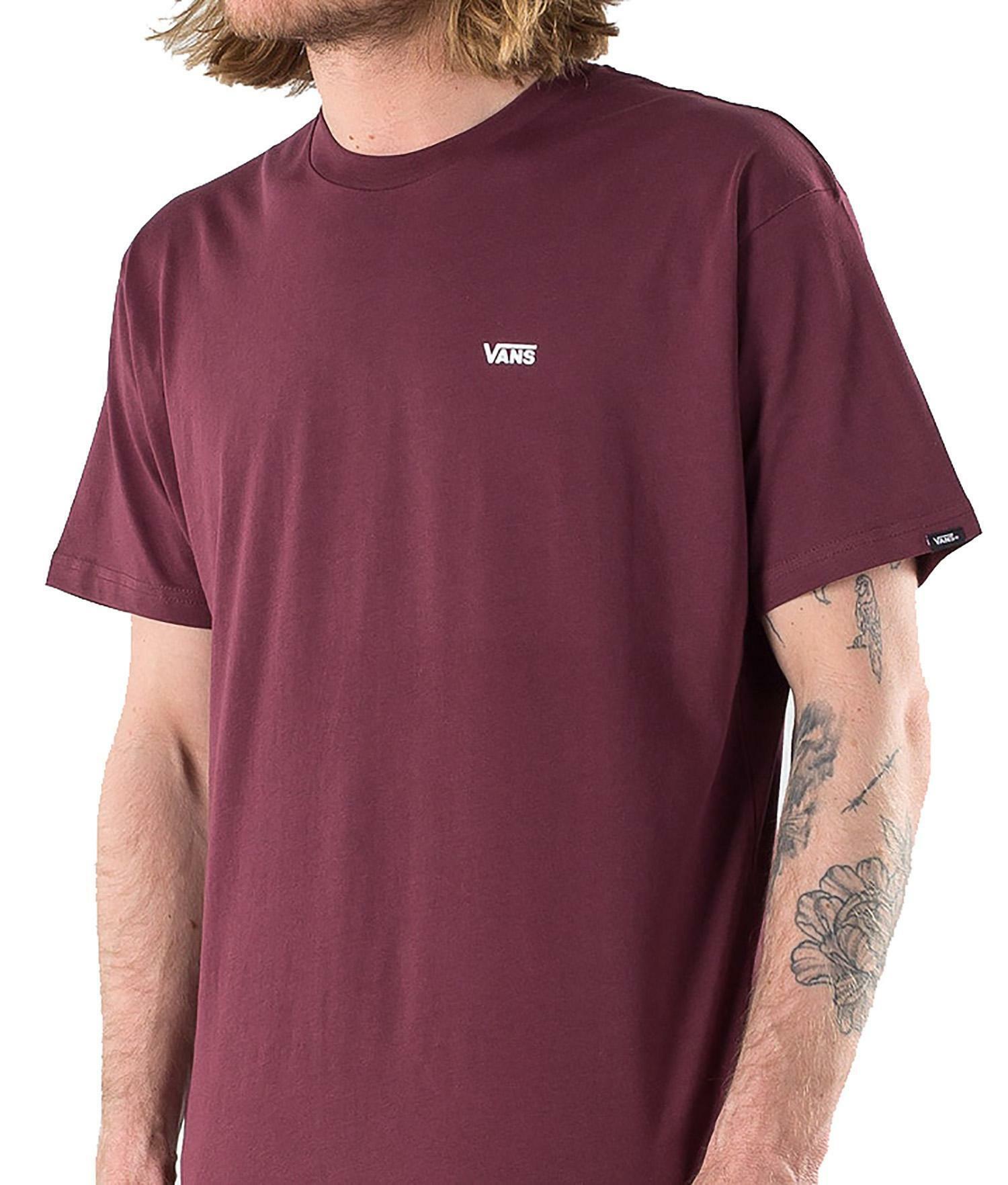 Vans t-shirt vans left chest logo p vn0a54tf1oa uomo bordeaux