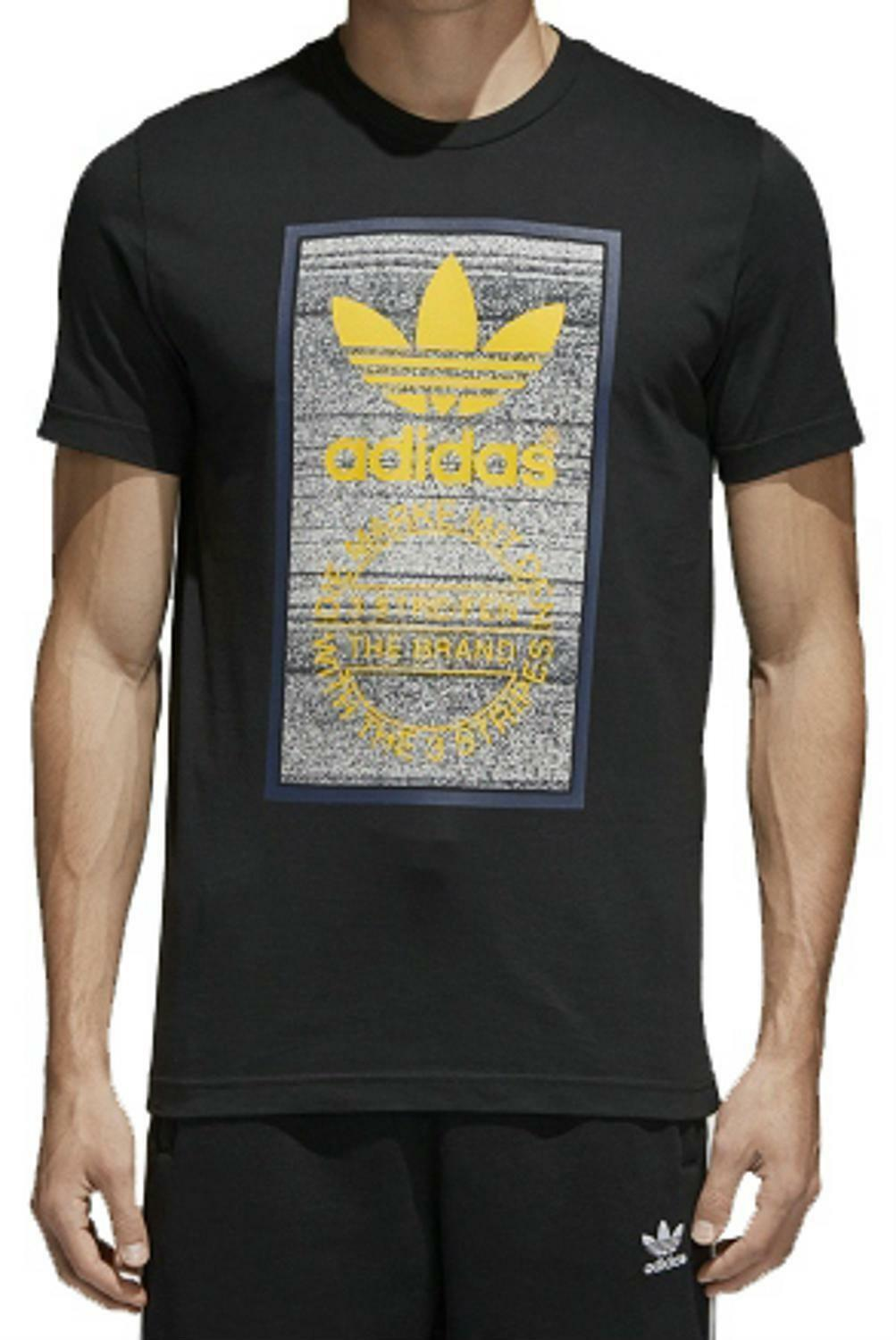 adidas adidas traction tongue t-shirt uomo nera ce2242