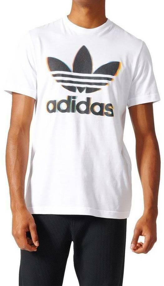 adidas adidas chromatic trefo t-shirt uomo bianca