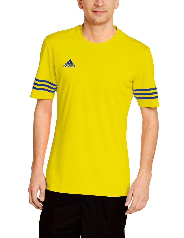 adidas t-shirt entrada 14 jsy climalite uomo gialla poliestere f50489
