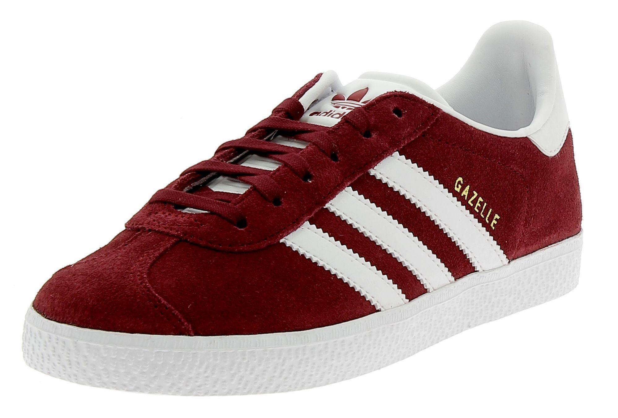 ADIDAS Gazelle J Bordeaux Sports Shoes | eBay