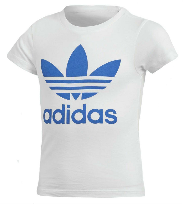 adidas adidas l trf tee t-shirt bambino bianca
