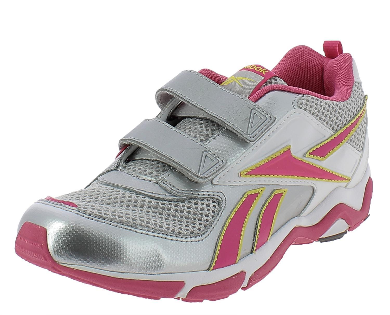 reebok reebok scarpe sportive bambina argento pelle tela strappi j85656