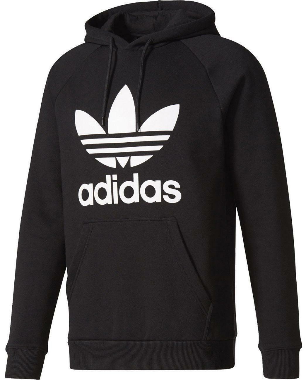 adidas adidas trefoil hoody felpa uomo cappuccio nera br4852