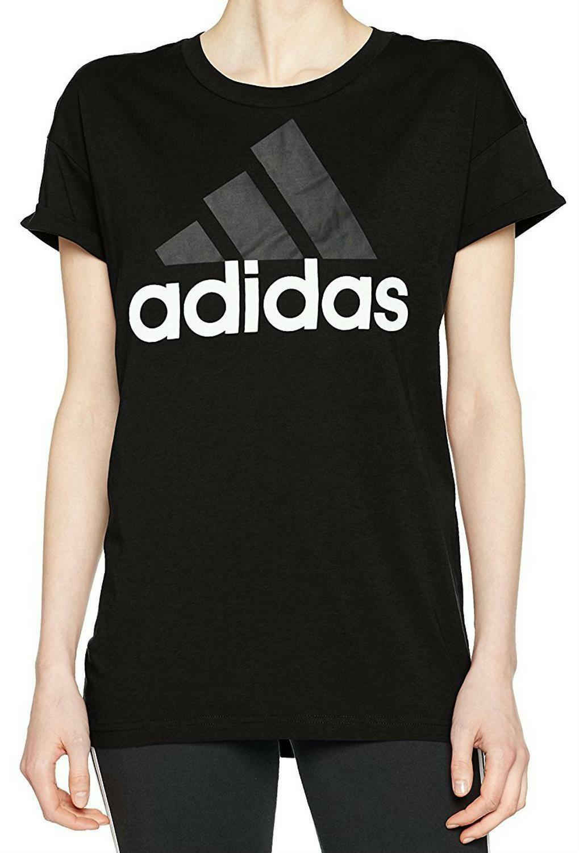 adidas adidas ess lin lo t-shirt donna nera s9722