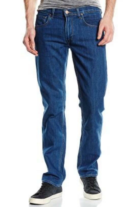 lee lee jeans uomo daren  blue denim classic