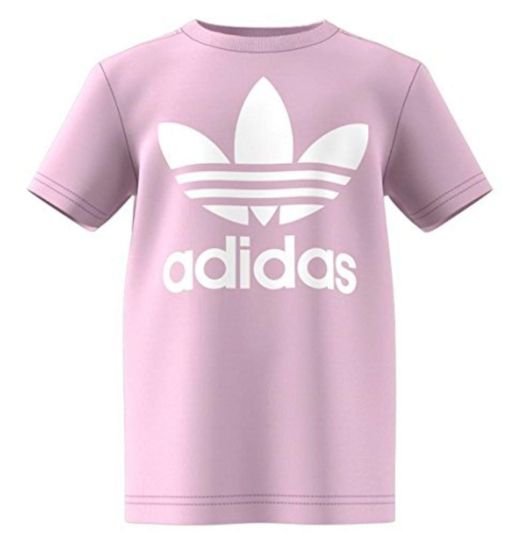 adidas adidas l trf tee t-shirt bambina rosa