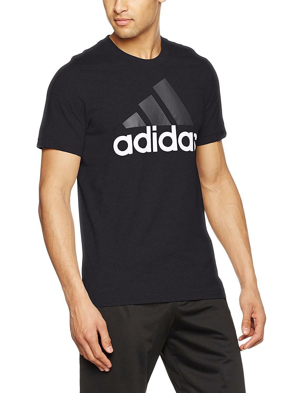 adidas adidas ess linear tee t-shirt uomo nera