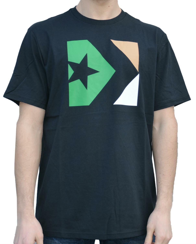 converse converse t-shirt uomo nera 5884a05