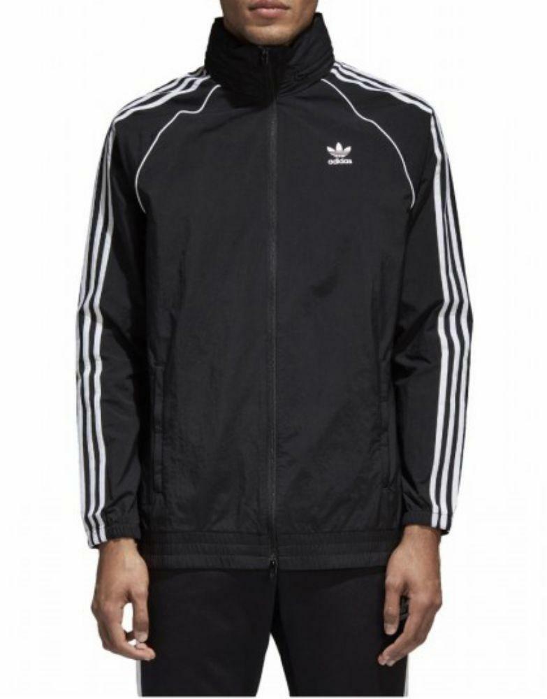 adidas adidas sst windbreaker giacchetto nero uomo cw1309