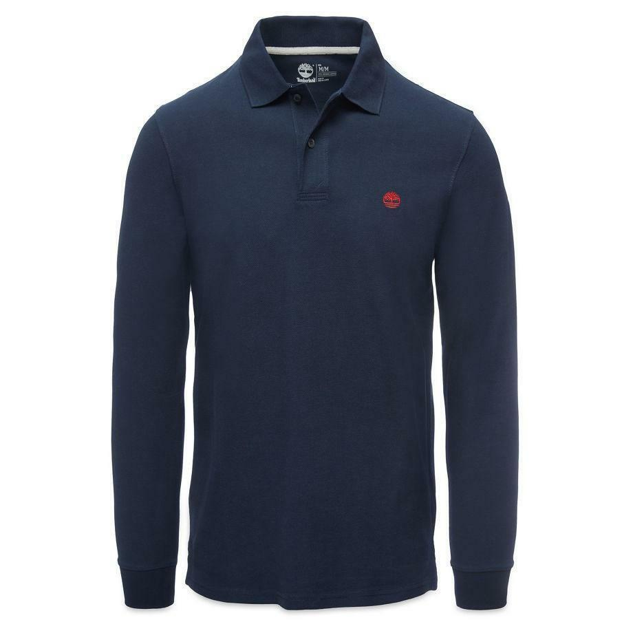 timberland timberland millers river long sleeve polo uomo blu