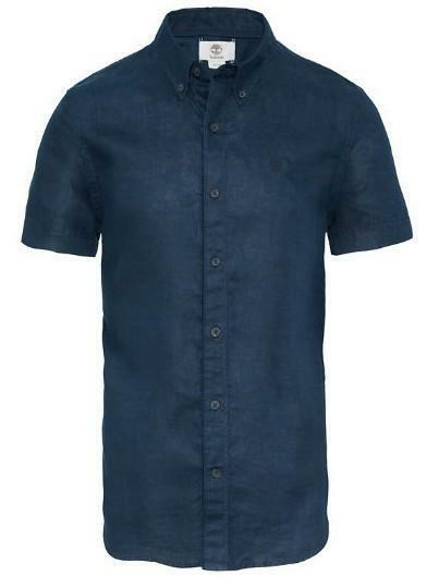 timberland timberland ss linen camicia uomo blu a1ami433