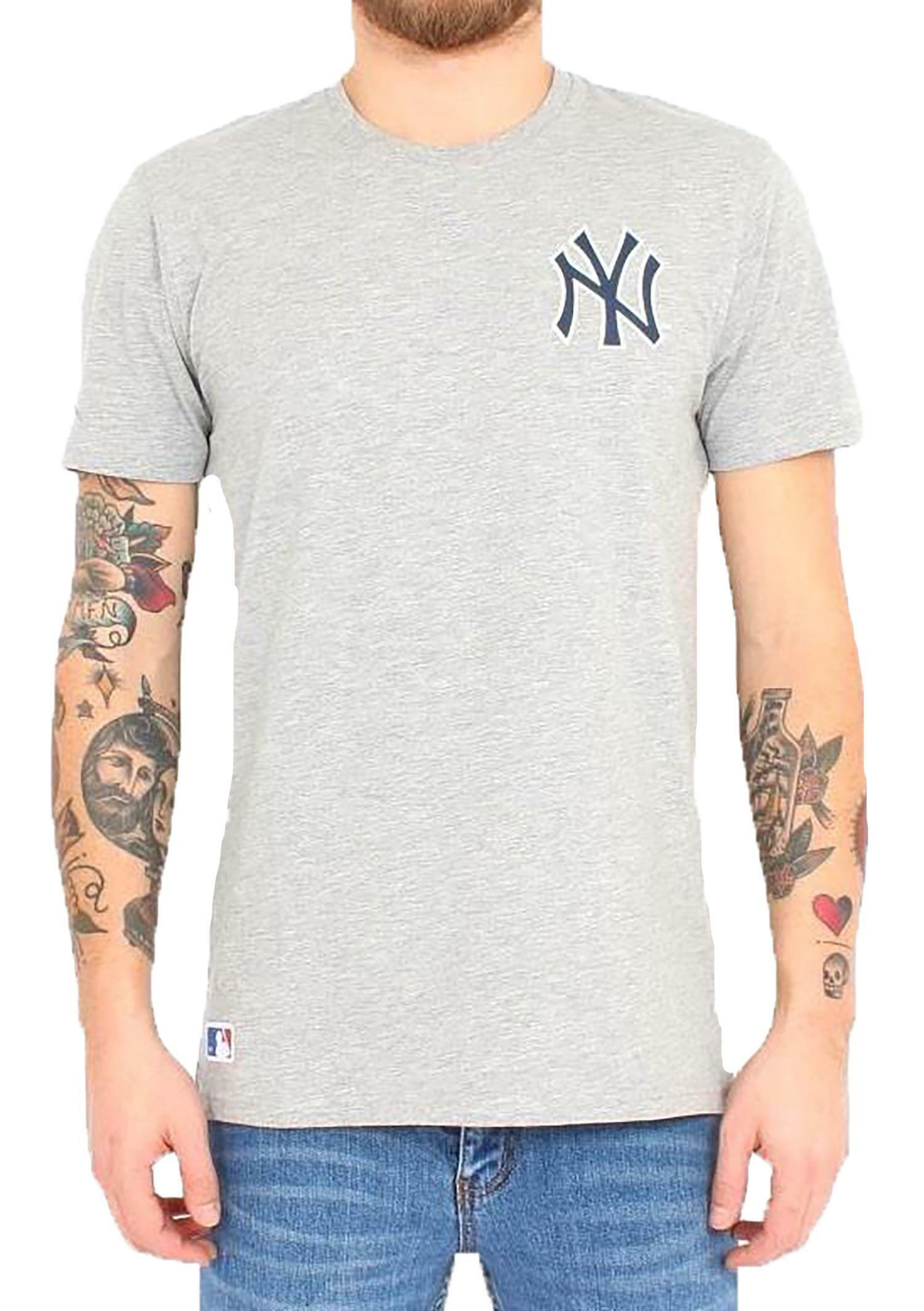 new era new era team banner t-shirt uomo grigia 11208426