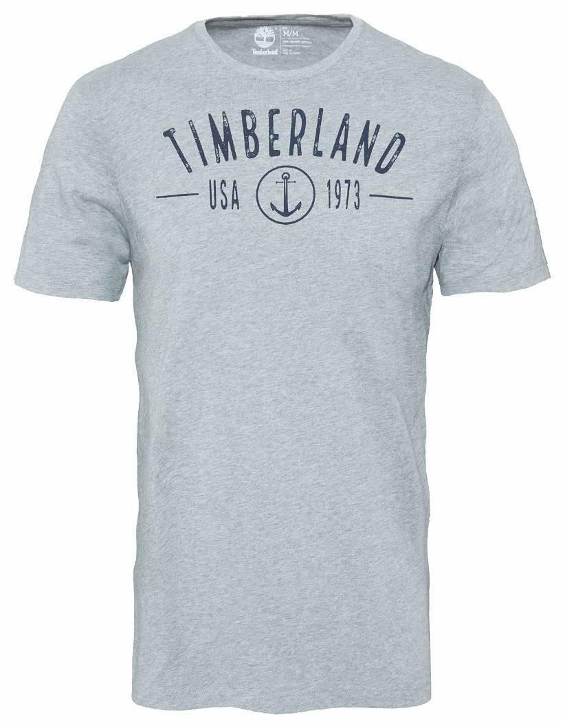 timberland timberland ss kennebec river root t-shirt uomo grigia