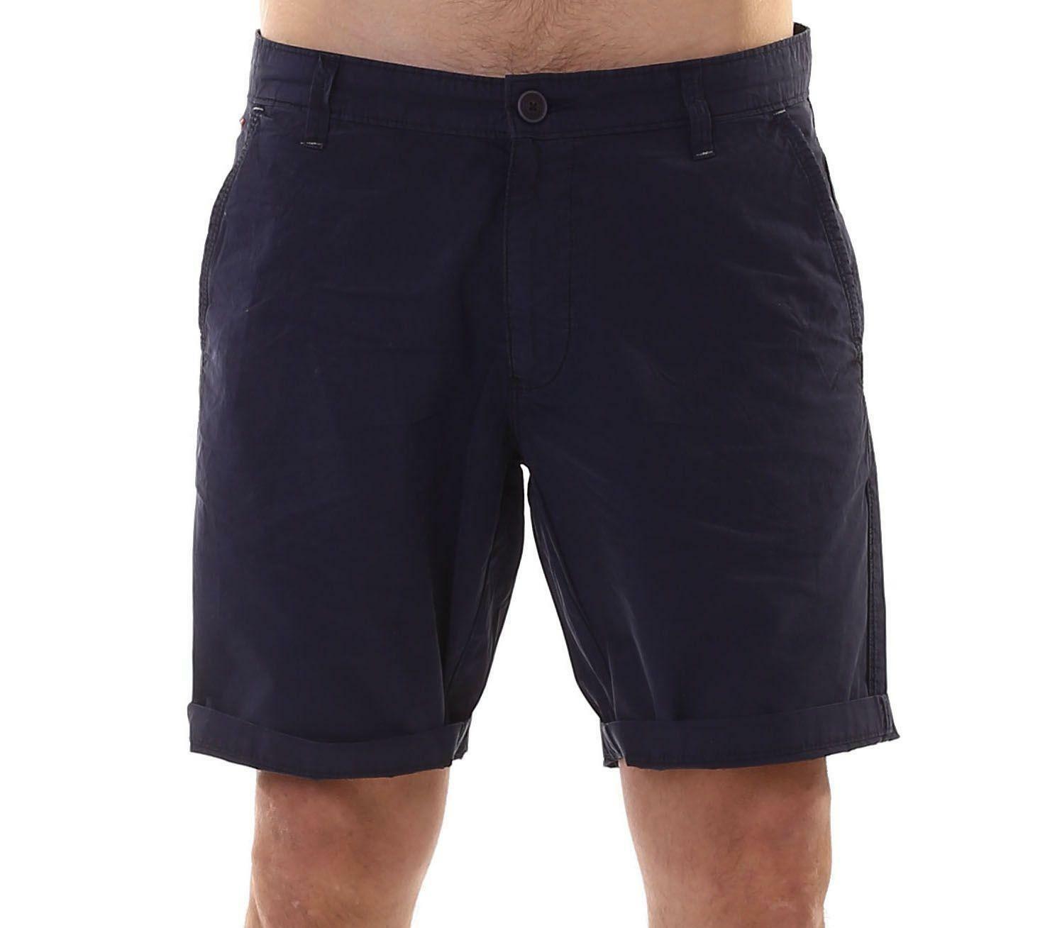 napapijri napapijri nayerou popoline pantaloncini uomo blu