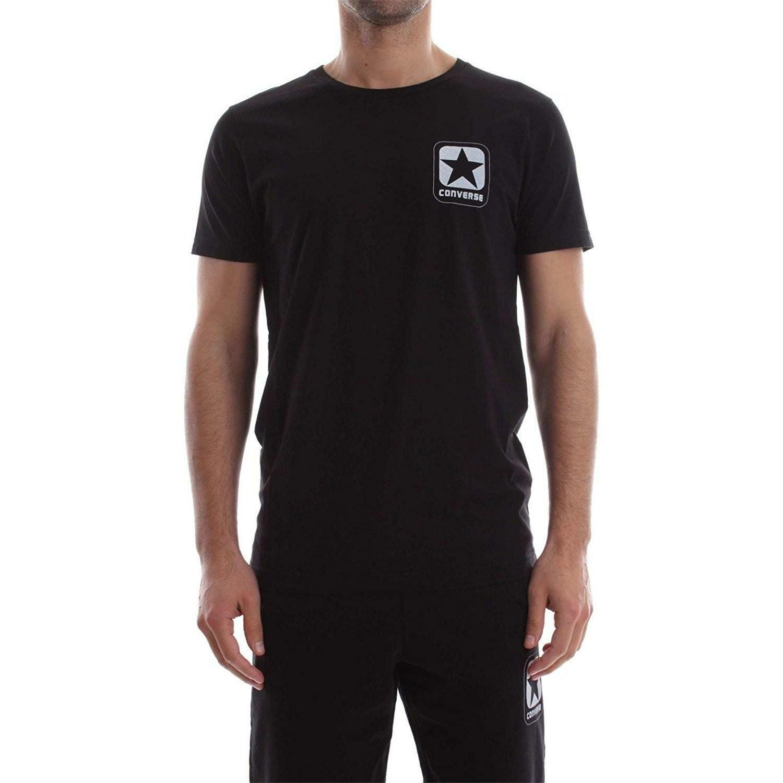 converse converse t-shirt uomo nera 7301a02