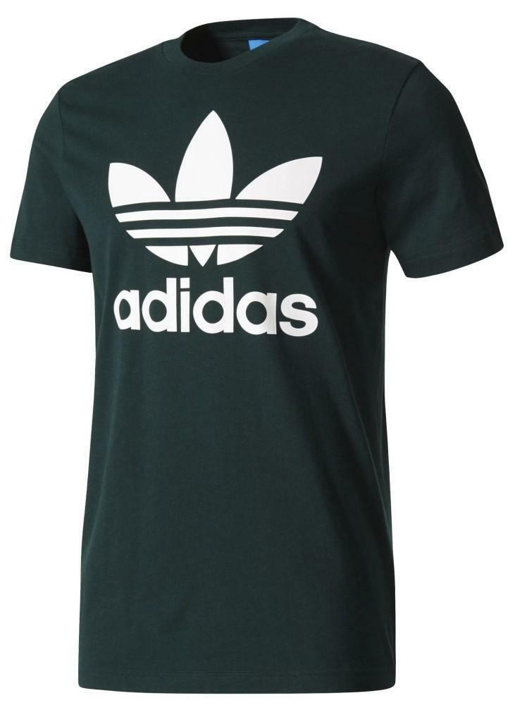 Adidas Original Trefoil T-Shirt Uomo Verde  978d316bde66