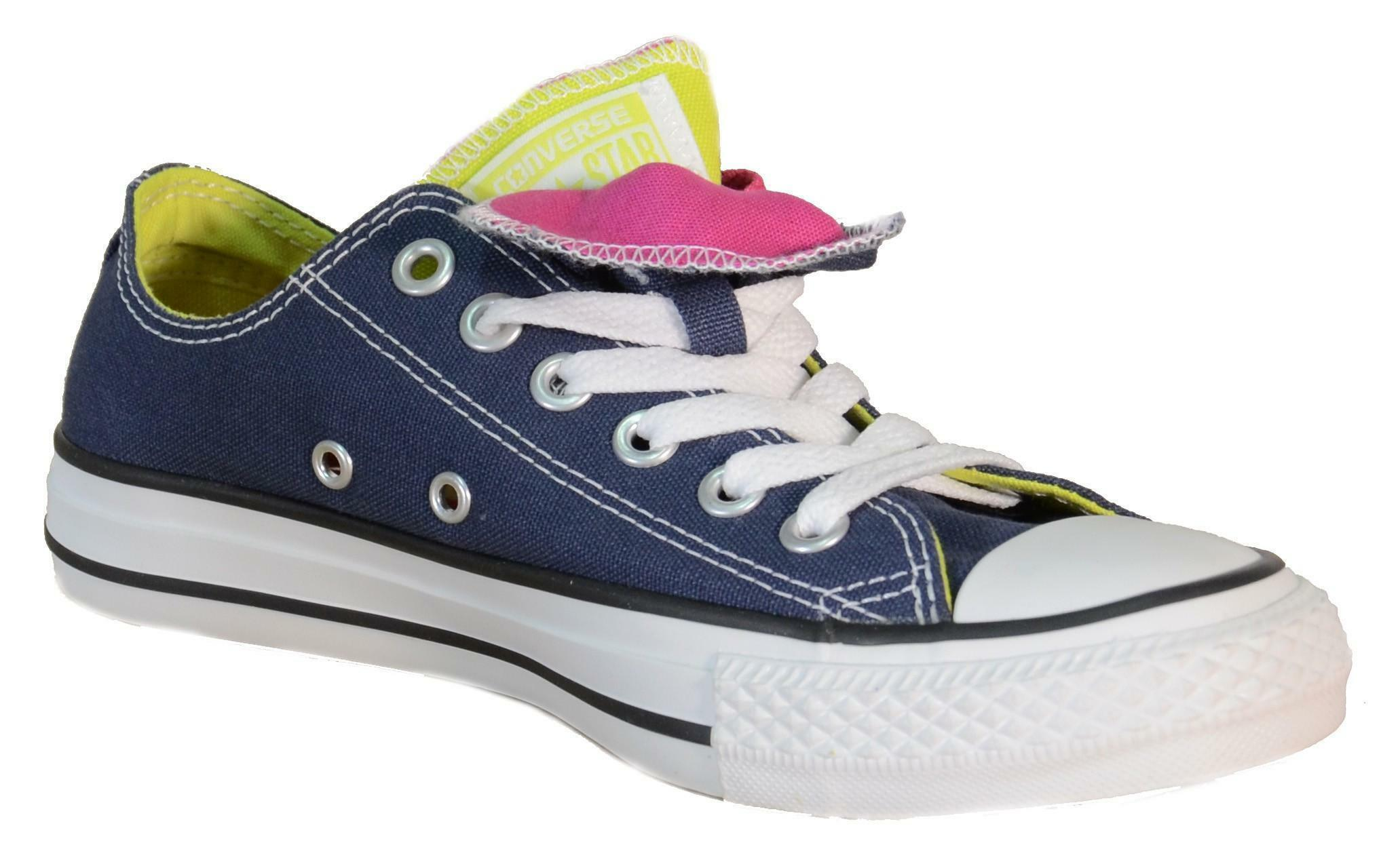 converse converse all star ct dbl tng ox navy scarpe donna blu tela 143330c