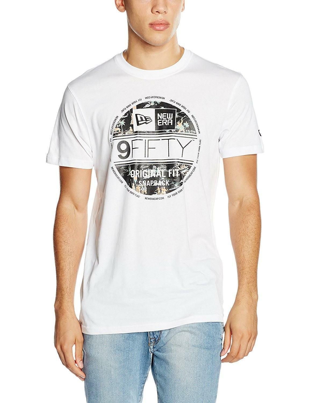 new era new era offshore tee whi t-shirt uomo bianca 11278243