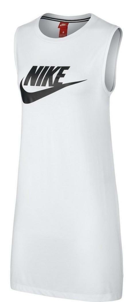 nike nike sportswear vestito donna bianco 883962100