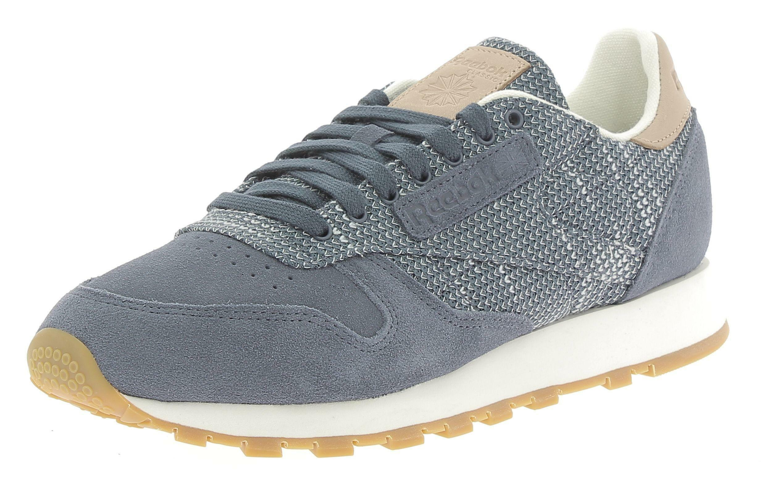 reebok reebok classic lthr ebk scarpe sportive uomo blu
