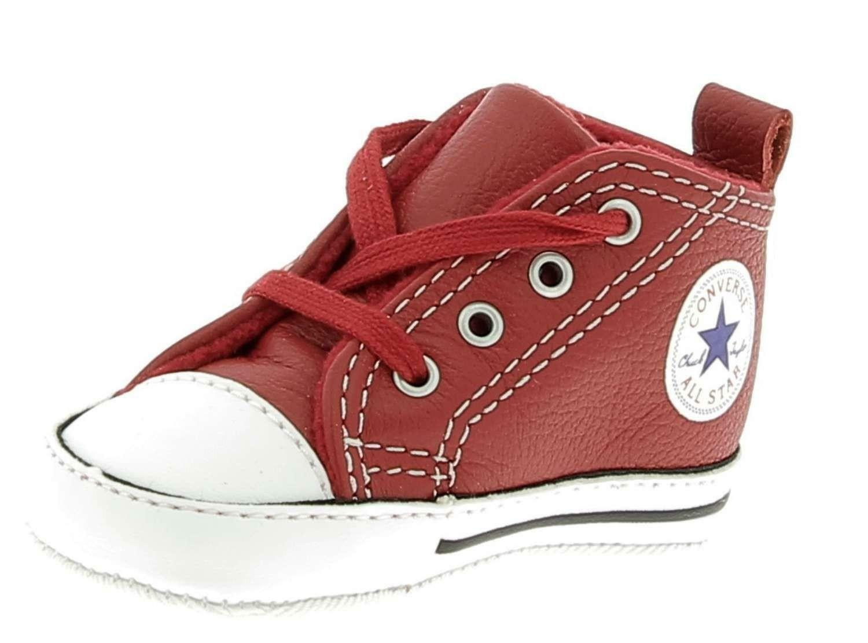 converse converse ctas frist scarpe culla bambina rosse pelle