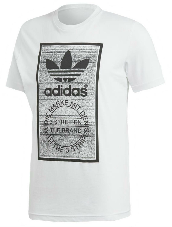 adidas adidas traction tongue t-shirt uomo bianca
