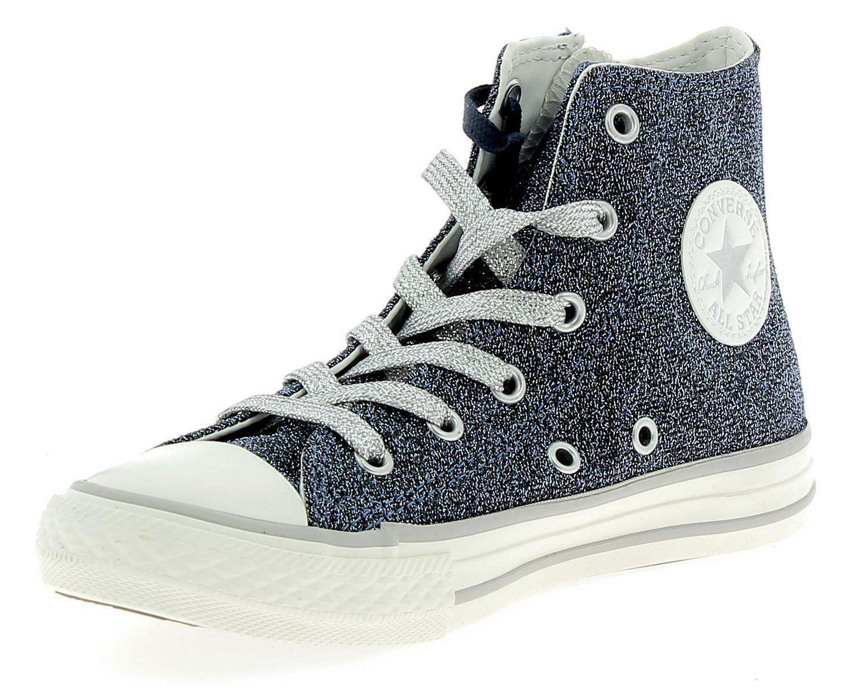 converse converse ctas side zip hi scarpe sportive bambina blu