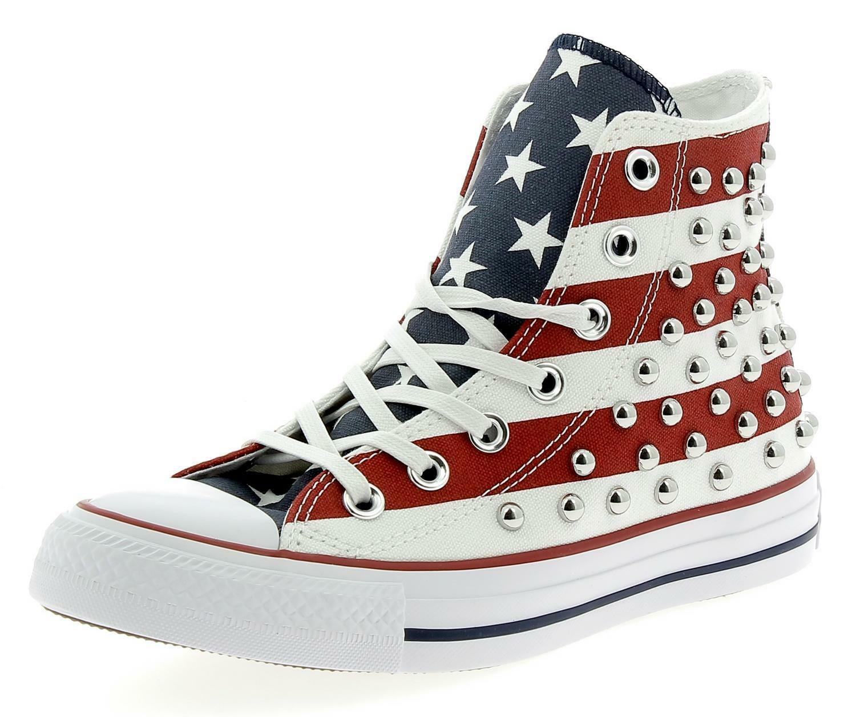 borchie scarpe converse