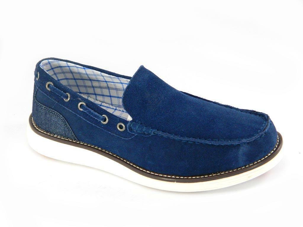 armata di mare armata di mare mocassini uomo blu scarpe da barca 40110