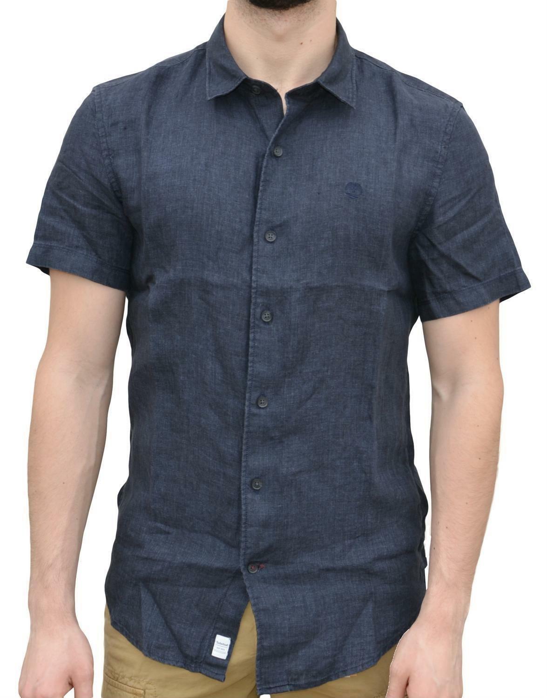 timberland timberland ss mill lin shirt sl camicia uomo blu a1kt6475