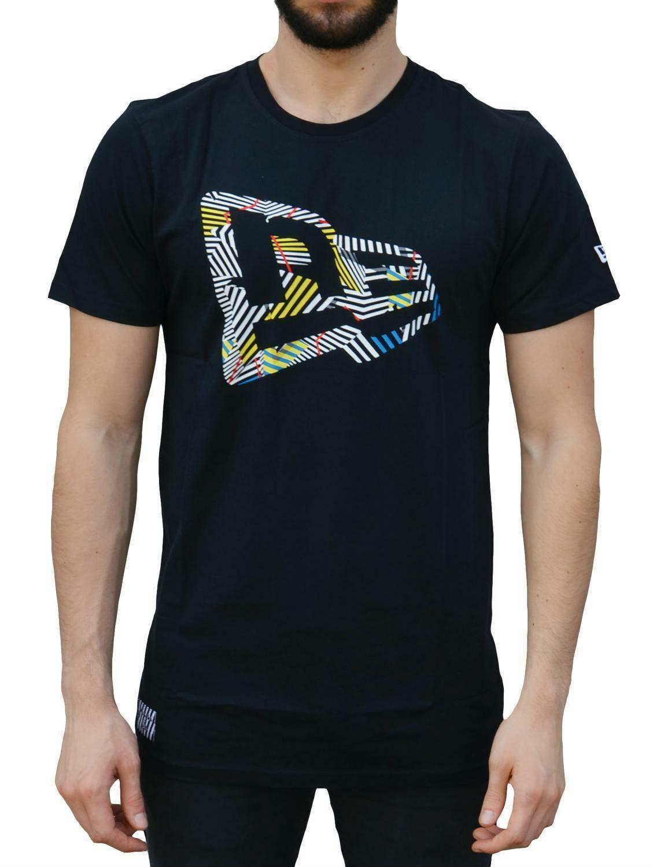 new era new era walala flag tee t-shirt uomo nera 11208467