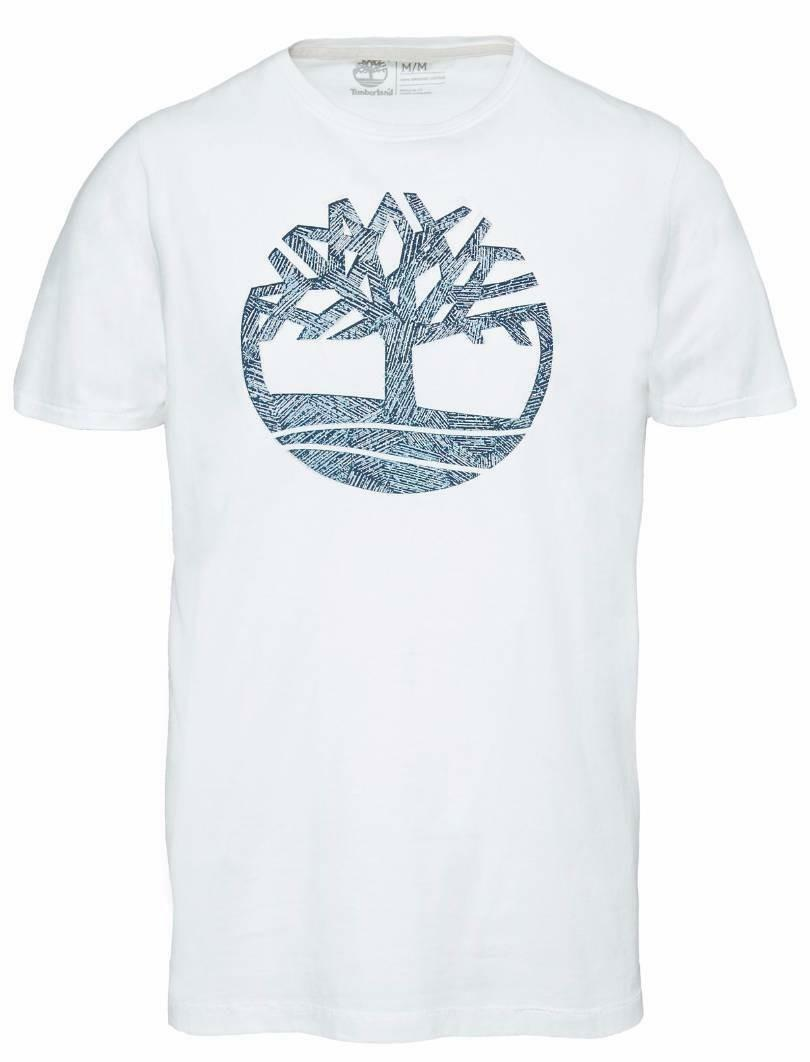 timberland timberland ss pattern tree tee t-shirt uomo bianca