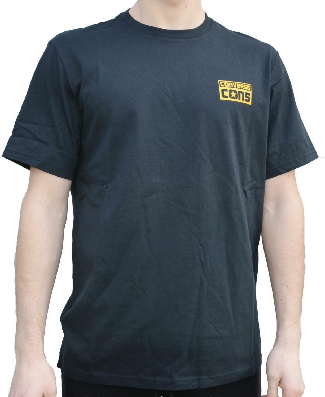 converse converse logo tee t-shirt uomo nera 5693a01