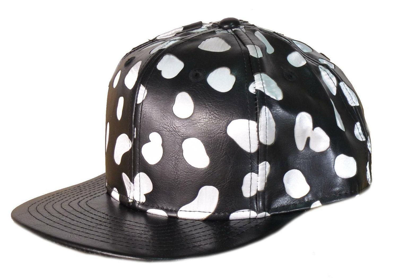 new era new era cappello bianco nero pelle spotted