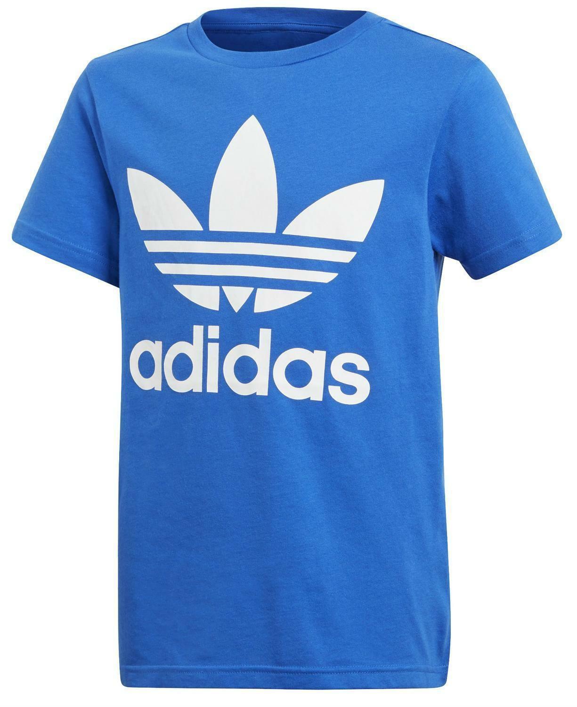 adidas adidas j originals trefoil t-shirt bambino blu
