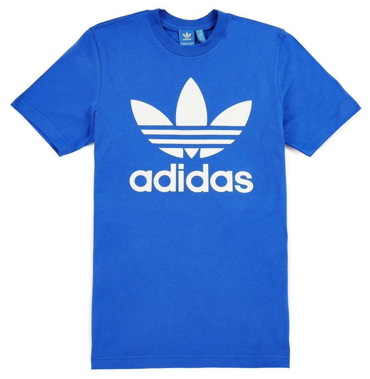adidas adidas original trefoil t-shirt uomo blu