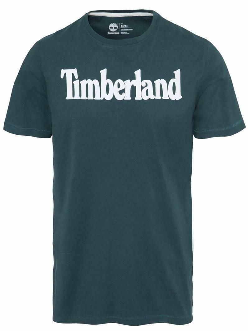 timberland timberland brand t-shirt verde regular fit
