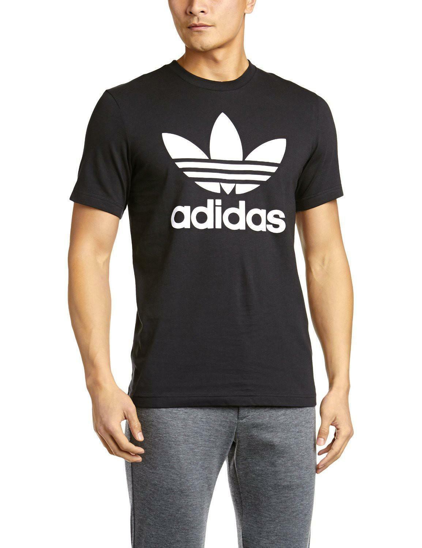 adidas adidas orig trefoil t t-shirt uomo nera aj8830