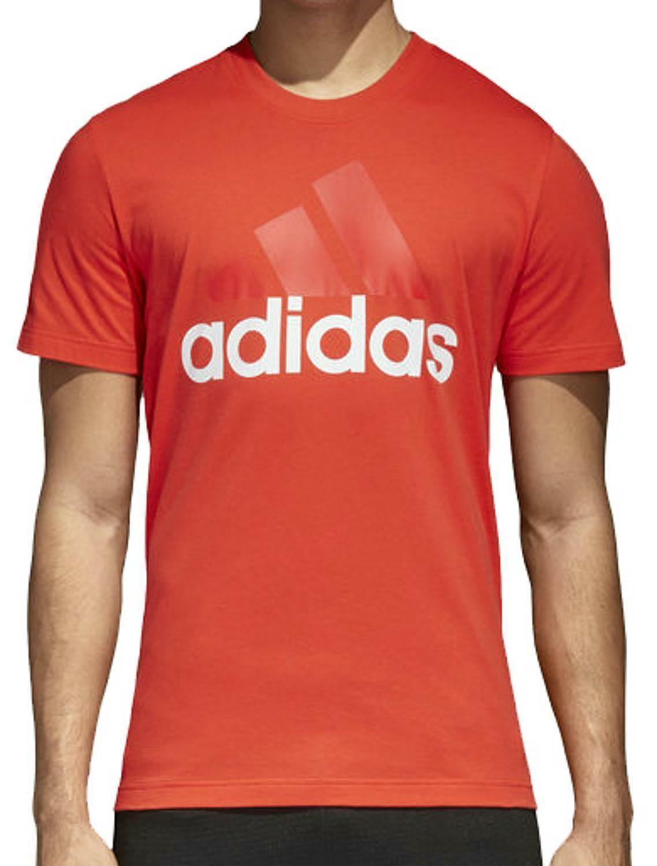 adidas adidas ess linear t-shirt uomo rosso ce1926