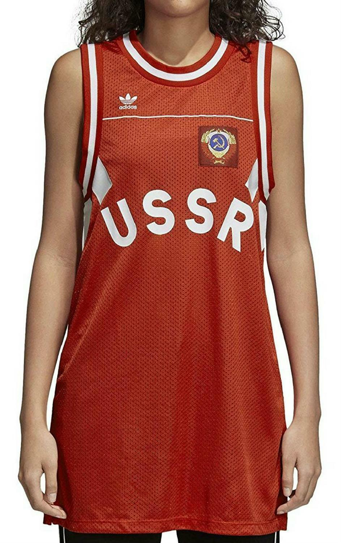 adidas originals adidas tank russia vestito donna rosso ce2309