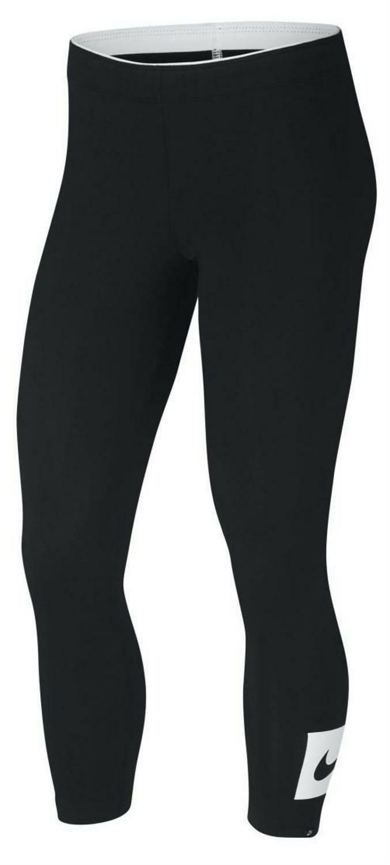 nike nike nsw crop swoosh leggings donna 7/8 neri 892921010