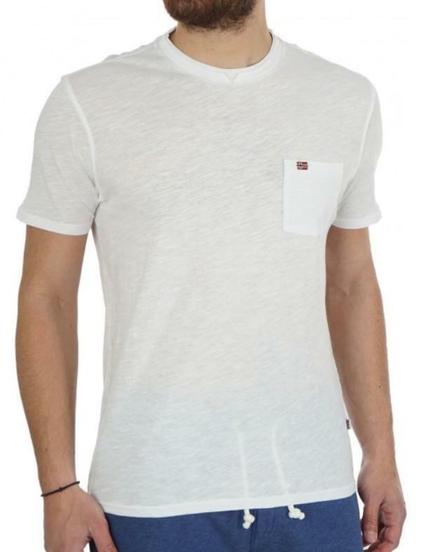 napapijri napapijri syla t-shirt uomo bianca n0yhcs002