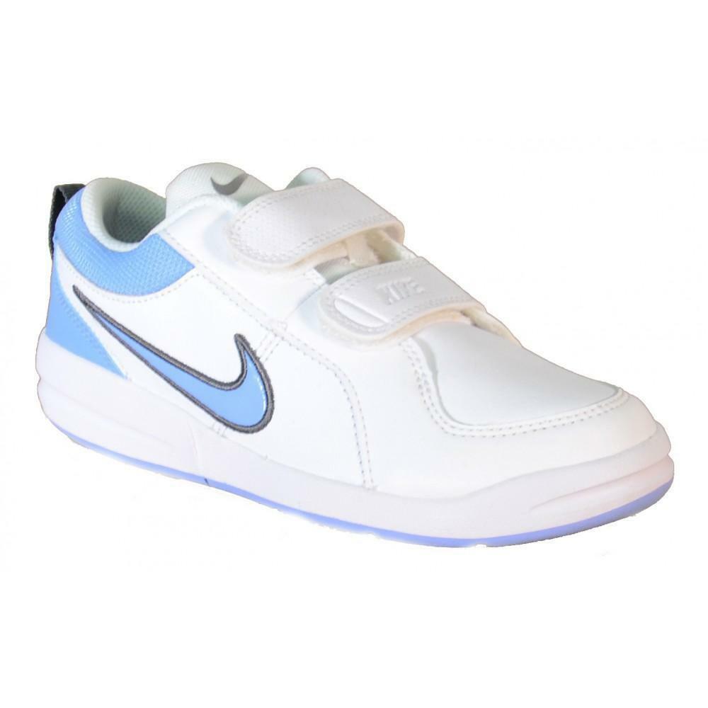 nike nike pico 4 psv scarpe sportive bambino bianche strappi 454500