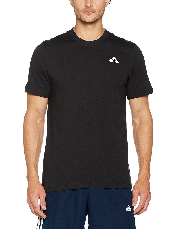 Adidas ess base t shirt uomo nera