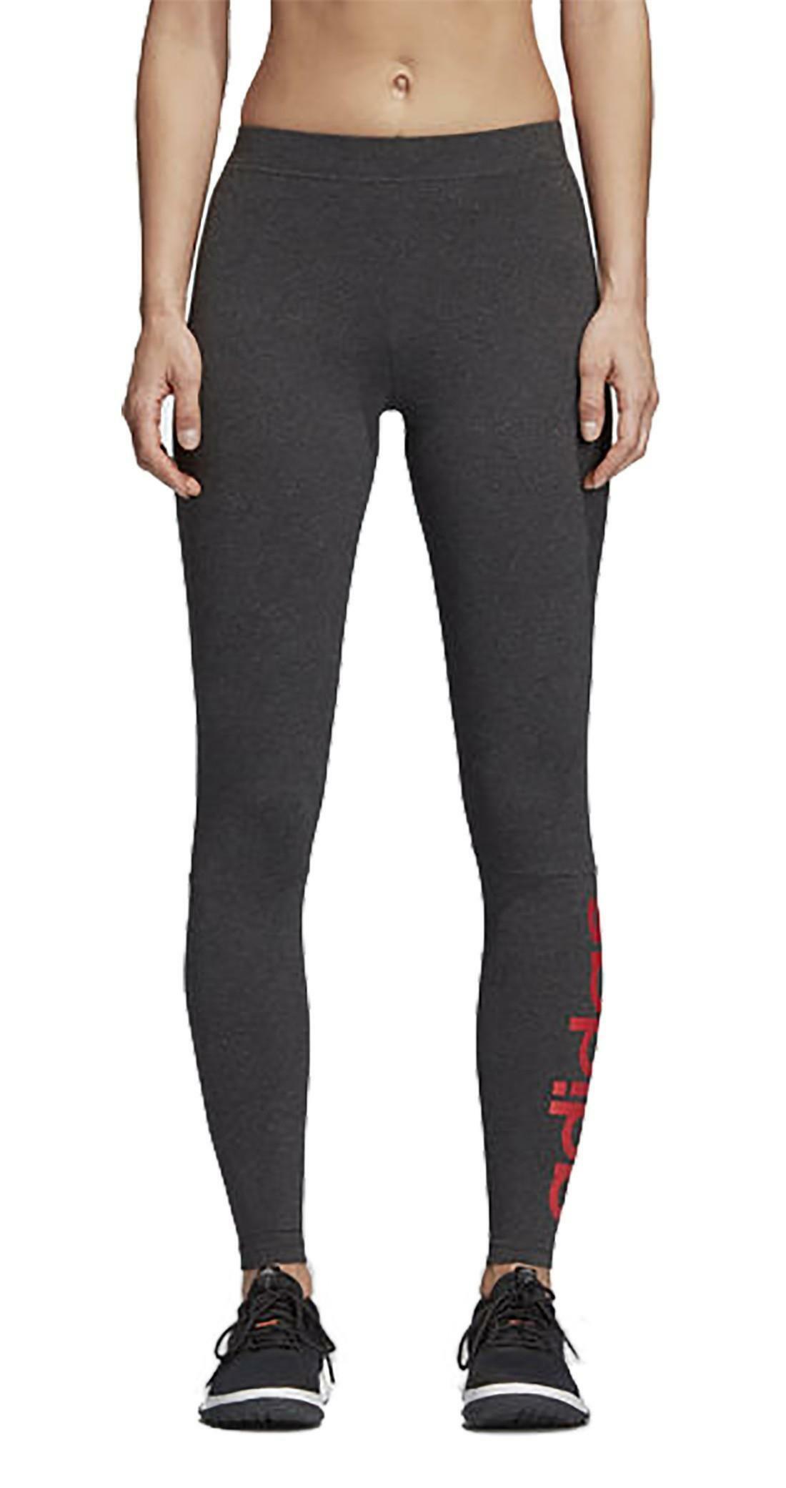 adidas adidas ess lin tight leggings donna grigi cz5740