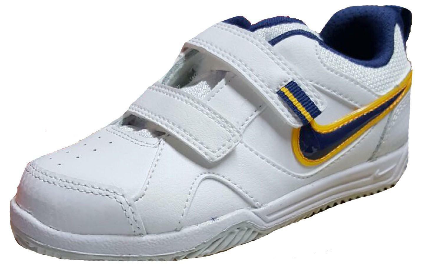 nike nike lykin 11 tdv scarpe sportive bambino bianche strappi 454476