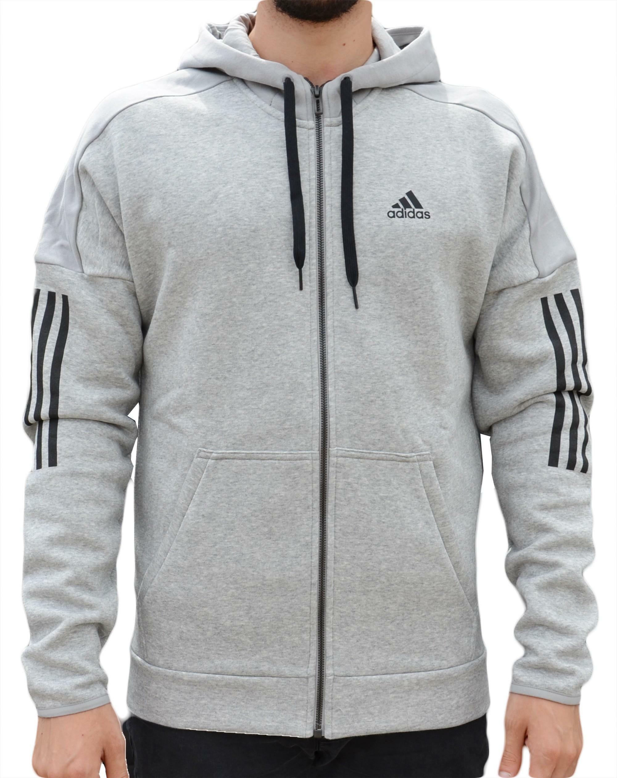 adidas adidas side logo giacchetto uomo grigio dm7588